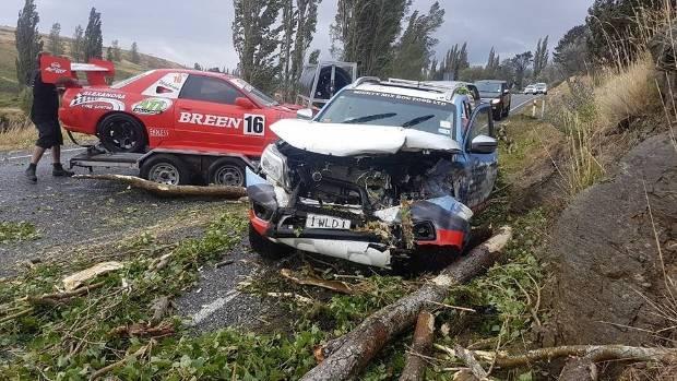 'Huge' tree falls on Alexandra racer's car, no injuries