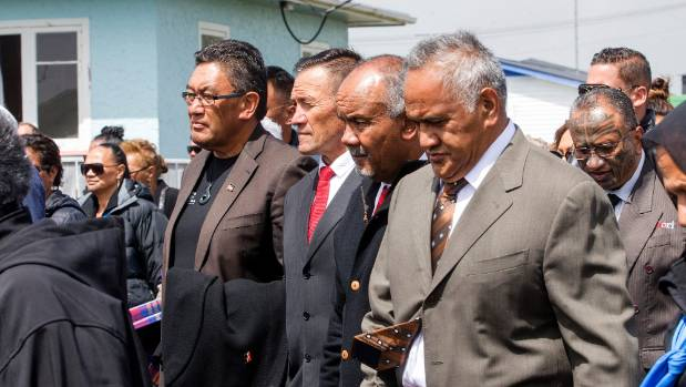 The Maori Party and Mana Party welcomed on to the mare at Ratana  -  From left; Mana Party leader Hone Harawira, Maori ...