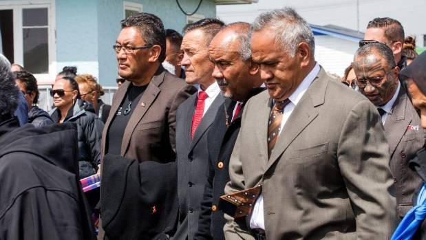 The Maori Party and Mana Party were welcomed onto Ratana alongside Kingitanga. From left; Mana Party leader Hone ...