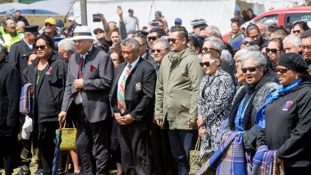 In a rare move the Maori Party came onto Ratana Pa alongside the Maori King's people.