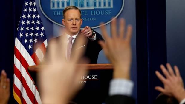 Sean Spicer fronted media for the The White House's first briefing in the Donald Trump administration.