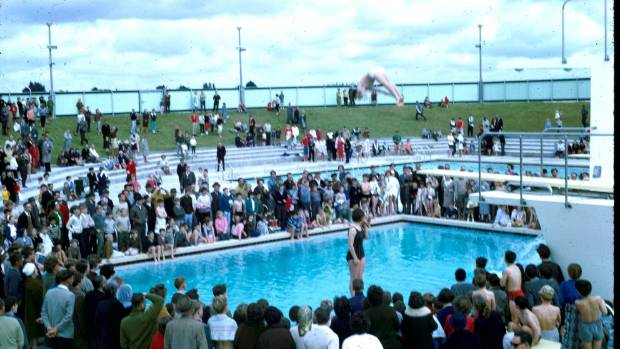 Diver at palmerston north 39 s lido pool opening resurfaces 50 years later for Palmerston north swimming pool