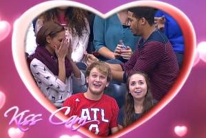 The moment before things go very wrong for this romantic sports fan.