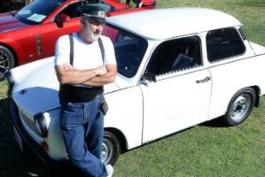Josef Cikmantory's Trabant won Best of Show honours at a car show in San Juan Capistrano.