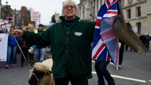 British farmers face an uncertain future with the prospect of losing a share of the EU market as well as subsidies.