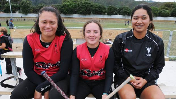 Hutt Valley's Bailey Robertson (L) and Pallas Potter (R) are in the New Zealand Junior White Sox softball squad for the ...