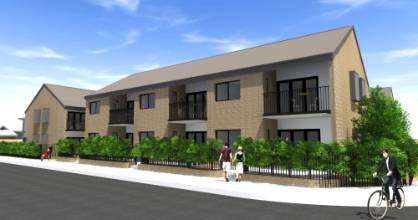 An impression of what the 21-unit Housing New Zealand complex in Johnsonville is expected to look like.