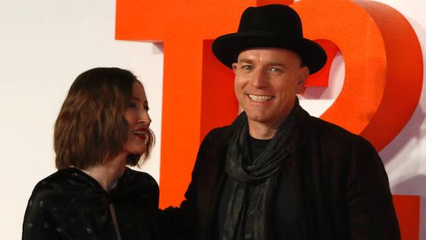 Actors Kelly Macdonald (left) and Ewan McGregor pose at the world premiere of the film T2 Trainspotting in Edinburgh, ...