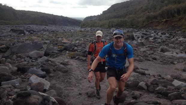 Trekking their way overland, Shaun Palmer, 19, set a record pace for William Adlam, 20.