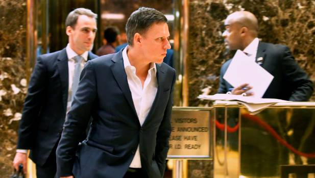 Peter Thiel at Trump Tower.