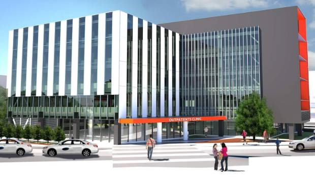 An artist's impression of the new outpatients building that is a tempting prospect for property investors because of its ...