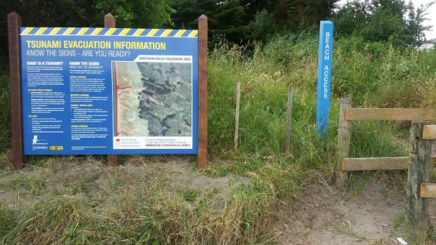 Tsunami information signs like this one at Himatangi are an everyday reminder of the volatile land we live on.