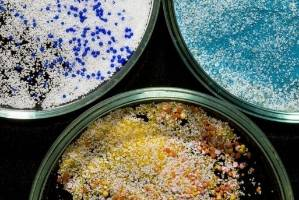 Plastic microbeads pose a threat to ocean and marine life.
