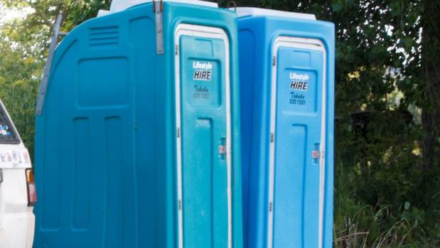 One of the tasks people agreed to was cleaning out portable public toilets.