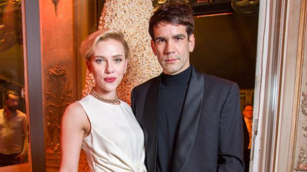 Scarlett Johansson and Romain Dauriac  in happier times.