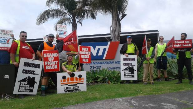 High housing costs and low wages force working Aucklanders to strike