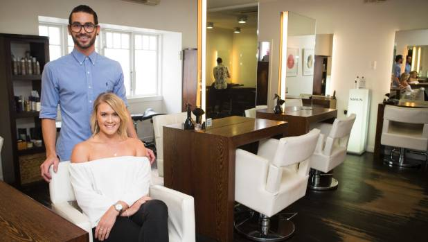 The pair flat together as well as working at the same salon.