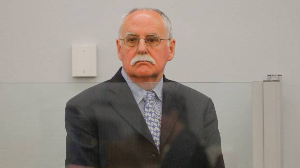 David Ross during sentencing at the Wellington District Court in 2013.