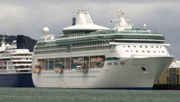 Legend of the Seas on an earlier visit to Wellington. A young crew member was seriously injured in an accident on board ...