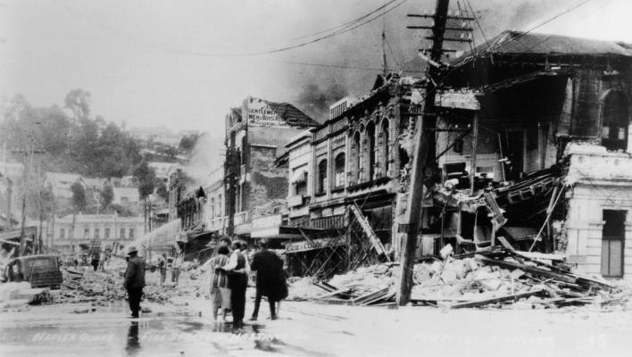 Image result for 1931 hawke's bay earthquake fire