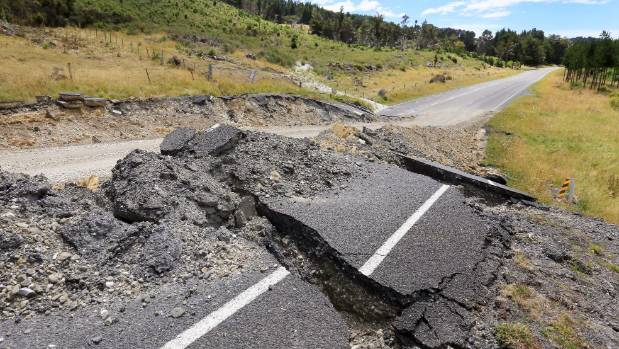 The road between Blenheim and Kaikoura was destroyed in the 7.8-magnitude earthquake.