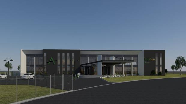 An artist's impression of Alpine Energy's new offices in Washdyke.