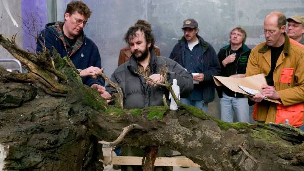 Sir Richard Taylor and Sir Peter Jackson with miniatures being prepared for the movie King Kong, which will be among ...