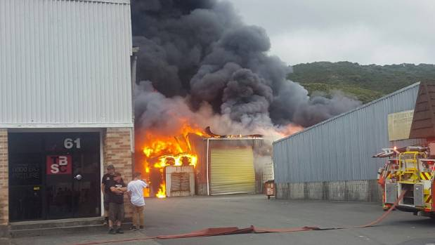 Flames engulfed the company's factory in Montgomery Cres, Upper Hutt, on January 26.