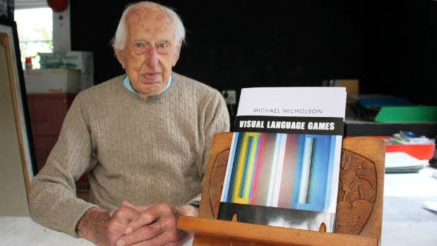 "NZ artist Michael Nicholson is not out of ""firsts"" yet, having this year launched his first book at the age of 101."