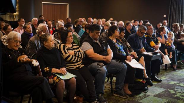 About 100 people attended the first hearing at the Novotel hotel in New Plymouth.