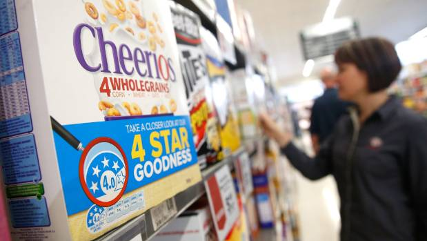 Cereals can achieve good star ratings, despite being sugary.