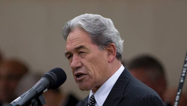 New Zealand First leader Winston Peters speaks at Ratana.