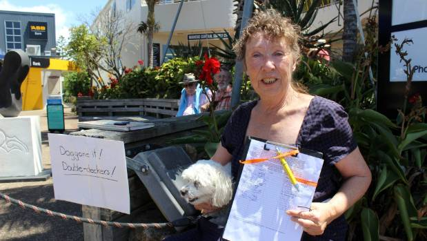 "Waiheke resident Stephanie Honeychurch has been collecting signatures for the petition. ""Most locals are glad to sign ..."