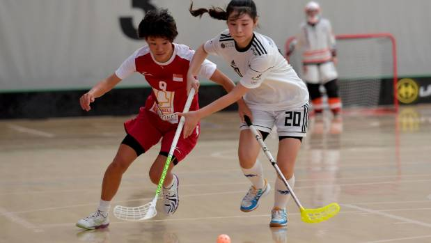 Floorball is a type of indoor hockey, played with five field players and a goalkeeper in each team.