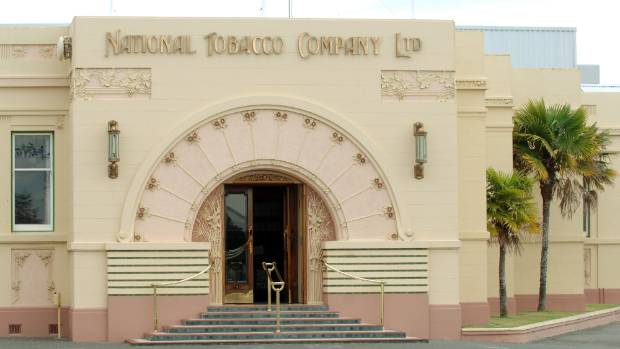 The art deco entrance to the National Tobacco Company Building.