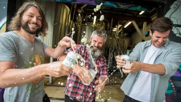 Garage Project brewery founders Jos Ruffell (left), Pete Gillespie, and Ian Gillespie.