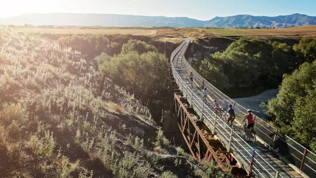Supporters of the 'Coastal Pacific Rail Trail' say it could be as successful, or more so, than the pictured Central ...