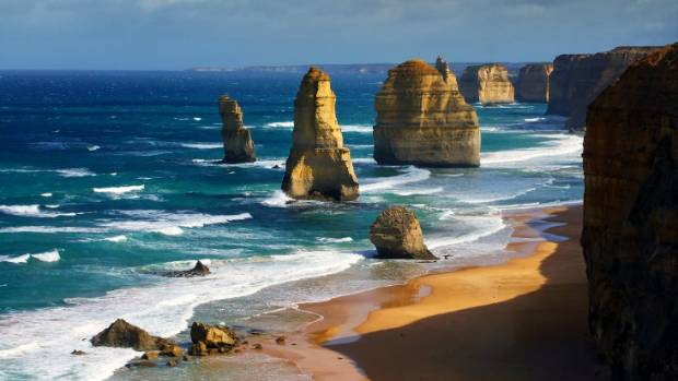 The beautiful 12 apostles in Australia.