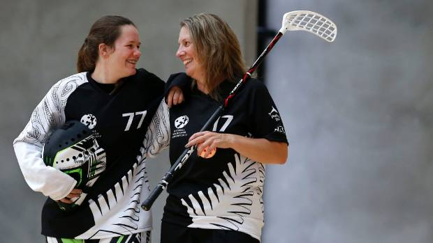 New Zealand's floorball team is dominated by Wellington-based players, including mother-daughter combo Jane ...
