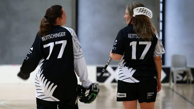 Fifteen-year-old goalkeeper Rachel Bertschinger, left, is the youngest player in the New Zealand team.