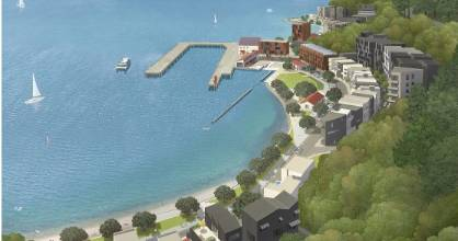 An artist's impression of a proposed development at Shelly Bay. An MOU will be signed between Wellington City Council ...