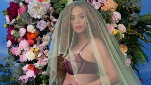 Beyonce after giving birth for the first time appeared in public