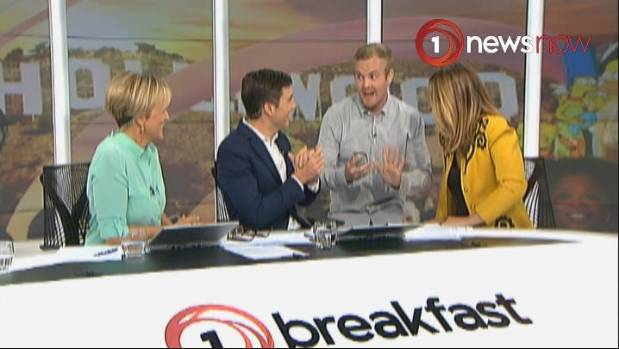 Matt interrupts an interview on Breakfast to break the news that Beyonce is pregnant with twins.