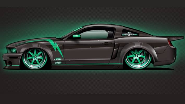An Artist S Interpretation Of What The Electric Crazy E Horse Mustang Will Look Like