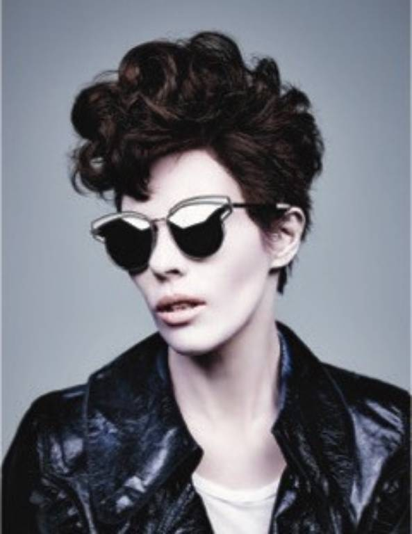 6be1e034e9f Fashion designer Karen Walker tries on wild new looks for eyewear campaign