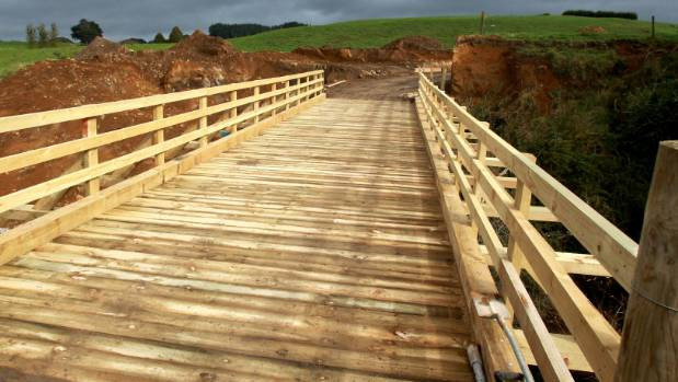 A newly built farm bridge. Care is required when building farm projects so they do not pose a risk to the environment