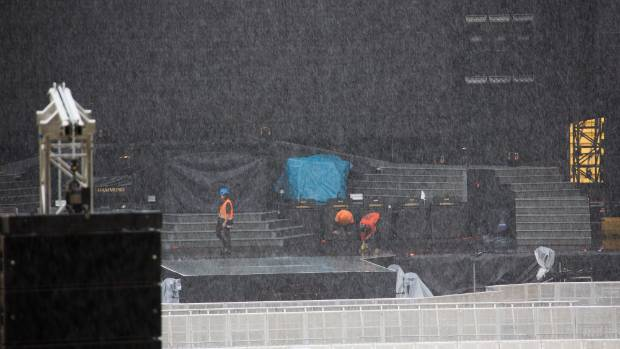 It's going to be a wet one, Wellington. Guns N' Roses get ready for their Westpac Stadium show that is part of the ...