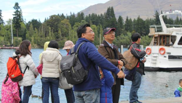 Chinese tourists in Queenstown.