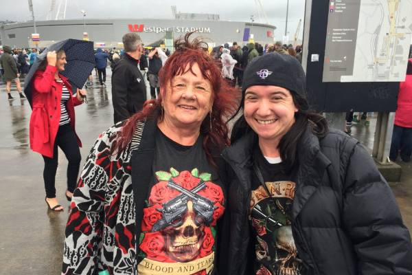 "Ivanka Marta (left), and Jade Johnston have come down the line from Otaki to see the concert. ""It's all Jade's fault I'm ..."