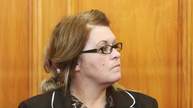 Donella Knox is sentenced for murder at the High Court in Blenheim.